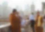 Buddhistische Mönche als Touristen in New York